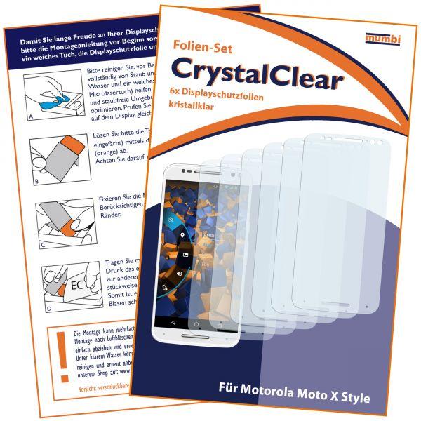 Displayschutzfolie 6 Stck. CrystalClear für Motorola Moto X Style