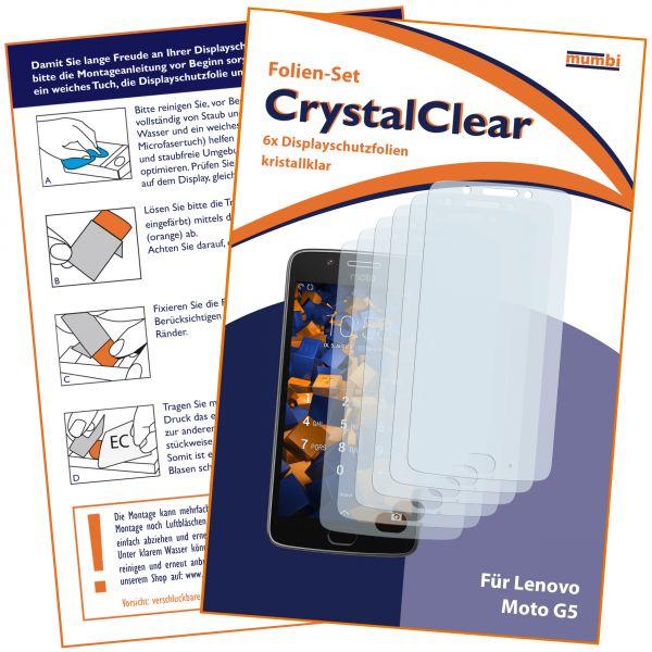 Displayschutzfolie 6 Stck. CrystalClear für Motorola Moto G5