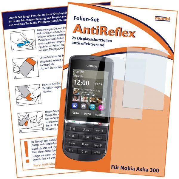 Displayschutzfolie 2 Stck. AntiReflex für Nokia Asha 300