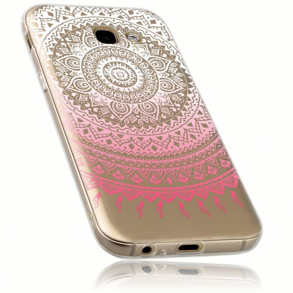 TPU Hülle rosa transparent Motiv Mandala für Samsung Galaxy A5 (2017)
