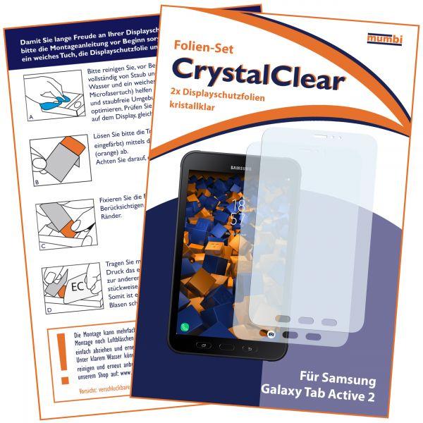 Displayschutzfolie 2 Stck. CrystalClear für Samsung Galaxy Tab Active 2
