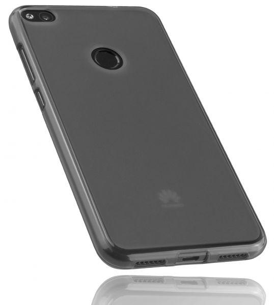 TPU Hülle schwarz transparent für Huawei P8 Lite (2017)