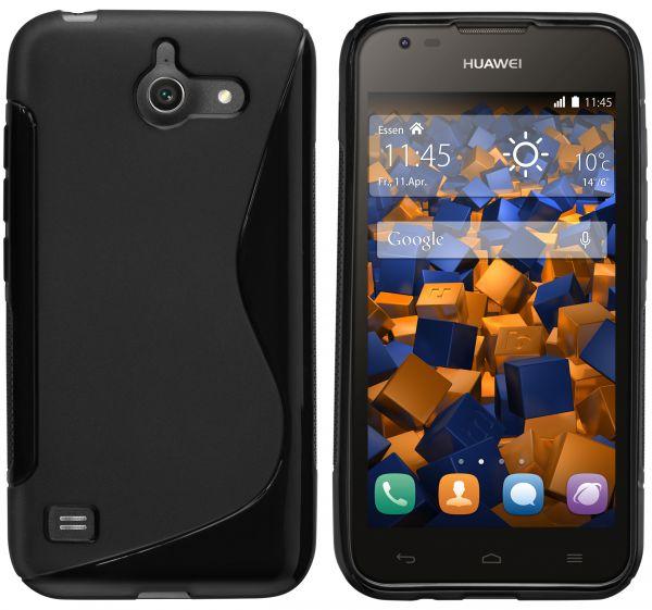 TPU Hülle S-Design schwarz für Huawei Ascend Y550