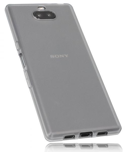 TPU Hülle schwarz transparent für Sony Xperia 10 Plus