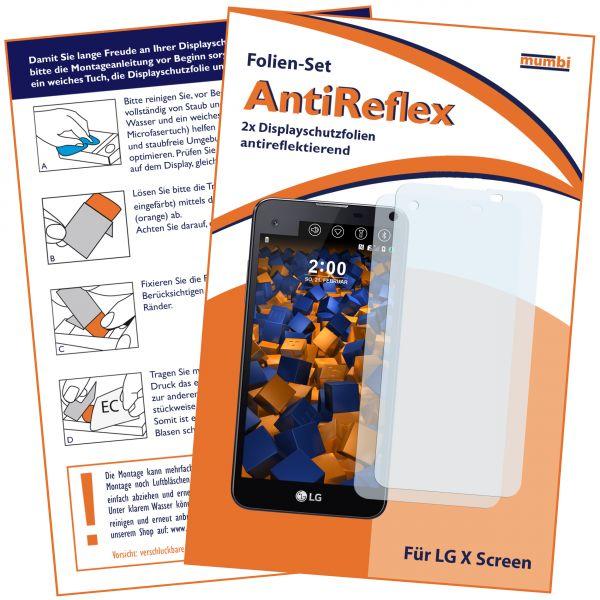 Displayschutzfolie 2 Stck. AntiReflex für LG X Screen
