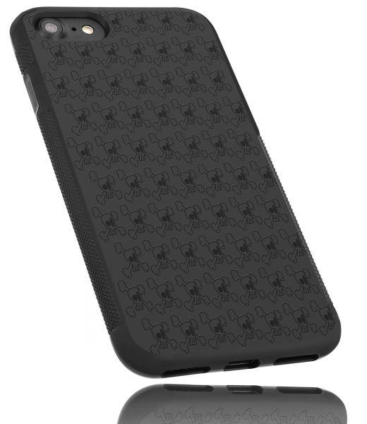 TPU Hülle Grip schwarz Motiv Totenkopf für Apple iPhone 8 / 7