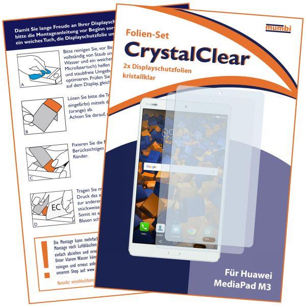 Displayschutzfolie 2 Stck. CrystalClear für Huawei MediaPad M3