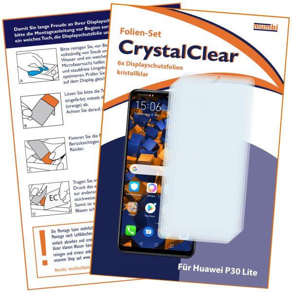 Displayschutzfolie 6 Stck. CrystalClear für Huawei P30 lite