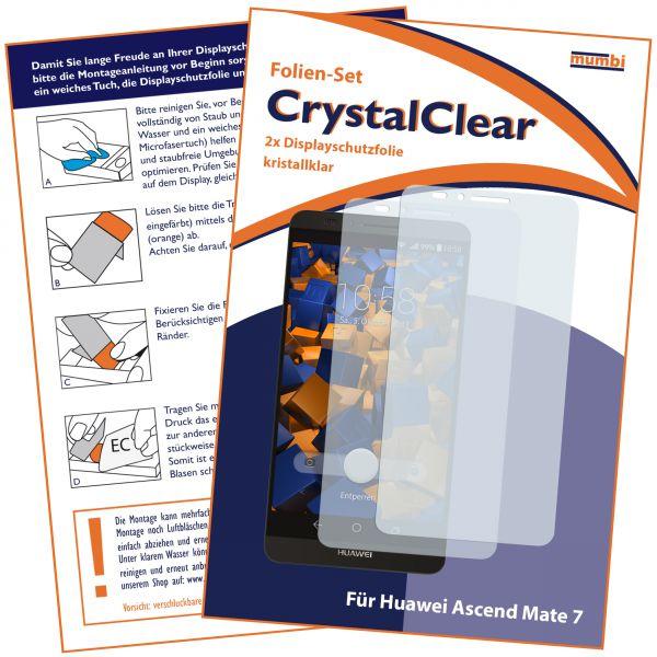 Displayschutzfolie 2 Stck. CrystalClear für Huawei Ascend Mate 7