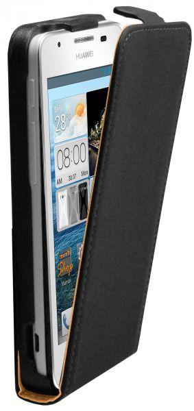 Flip Case Tasche schwarz für Huawei Ascend G510