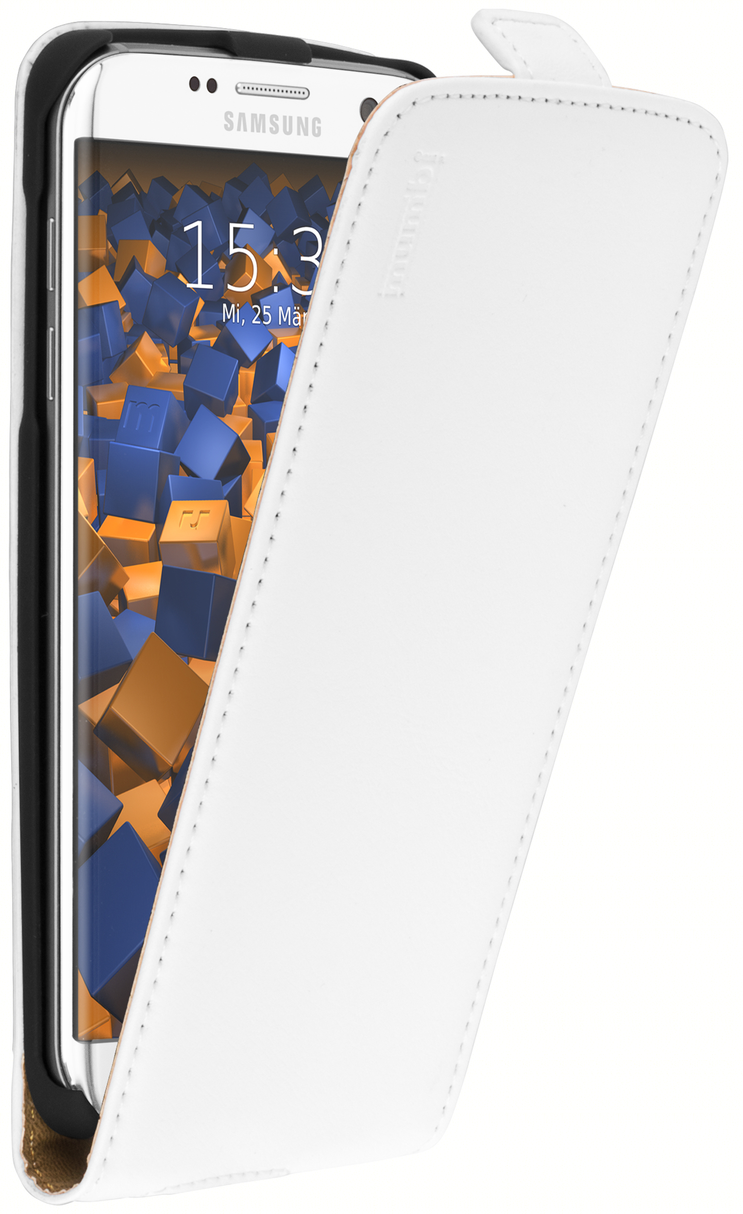 1 mumbi O2c Samsung Galaxy S7 Edge Flipcase Tasche weiss ws