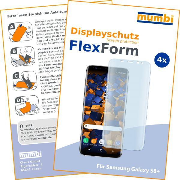 Displayschutzfolie 4 Stck. FlexForm für Samsung Galaxy S8 Plus
