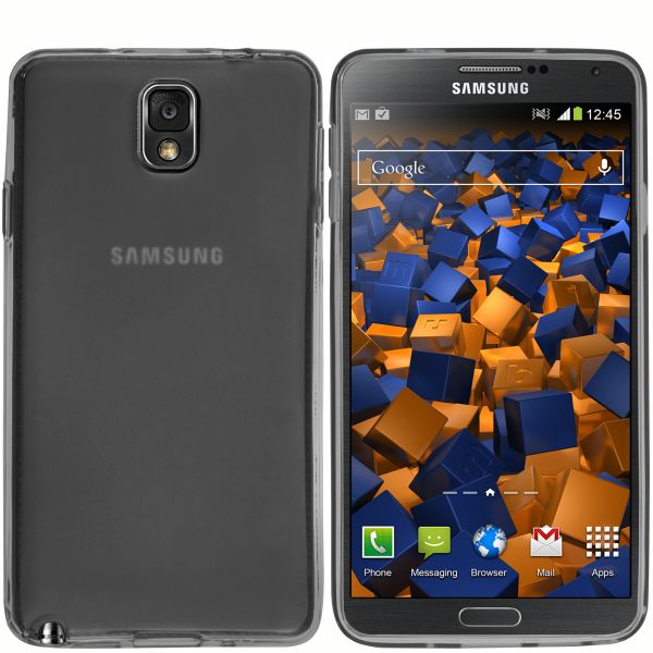 TPU Hülle schwarz transparent für Samsung Galaxy Note 3