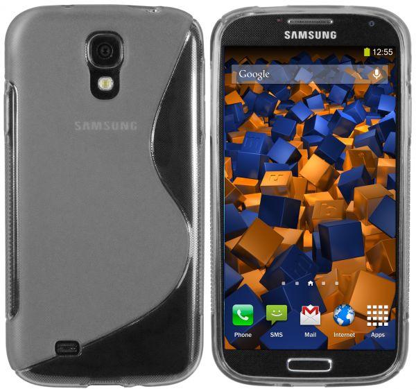 TPU Hülle S-Design transparent schwarz für Samsung Galaxy S4