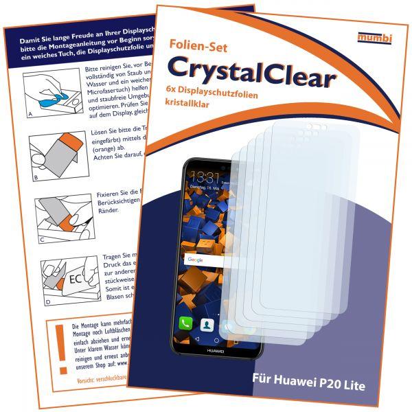 Displayschutzfolie 6 Stck. CrystalClear für Huawei P20 Lite