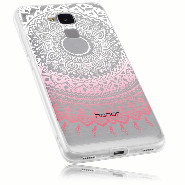 TPU Hülle rosa transparent Motiv Mandala für Huawei Honor 5C