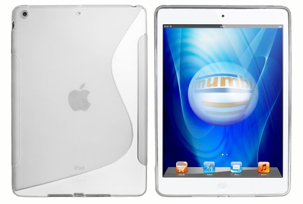 TPU Hülle S-Design transparent weiß für Apple iPad Air 1