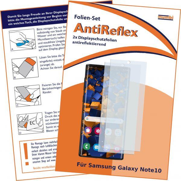 Displayschutzfolie 2 Stck. AntiReflex für Samsung Galaxy Note10