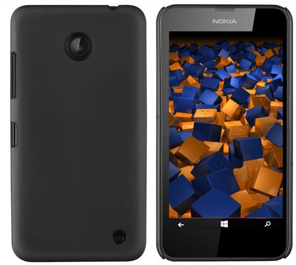 Hard Case Hülle schwarz für Nokia Lumia 630 / 635