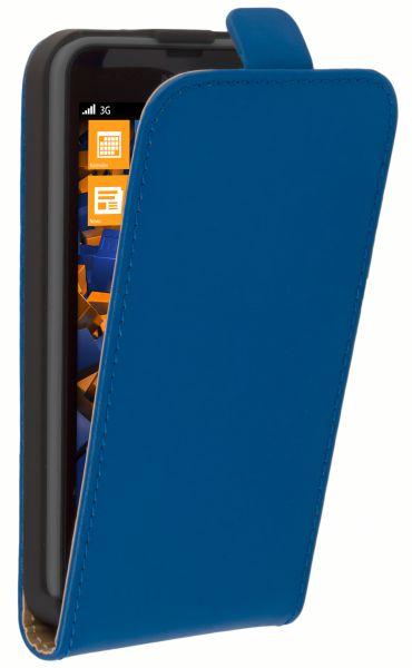 Flip Case Tasche blau für Nokia Lumia 630 / 635