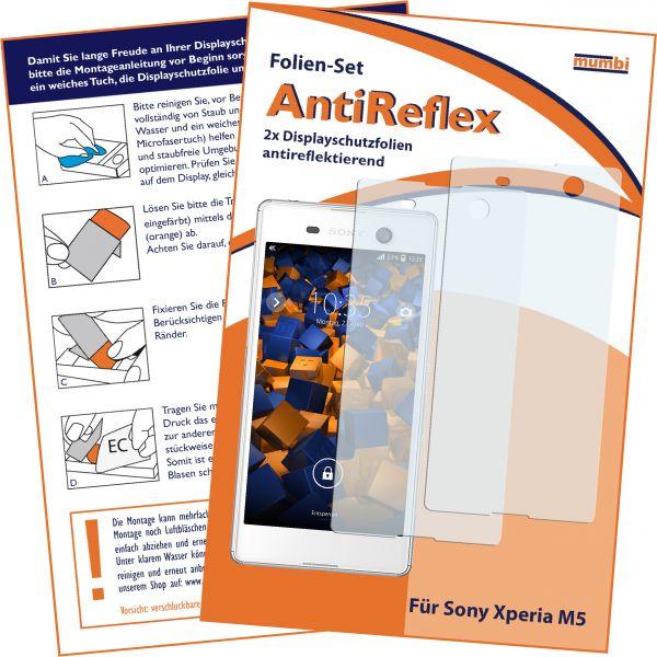 Displayschutzfolie 2 Stck. AntiReflex für Sony Xperia M5