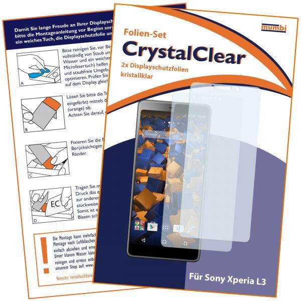 Displayschutzfolie 2 Stck. CrystalClear für Sony Xperia L3