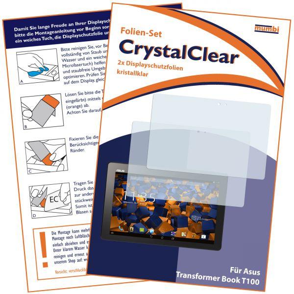 Displayschutzfolie 2 Stck. CrystalClear für Asus Transformer Book T100