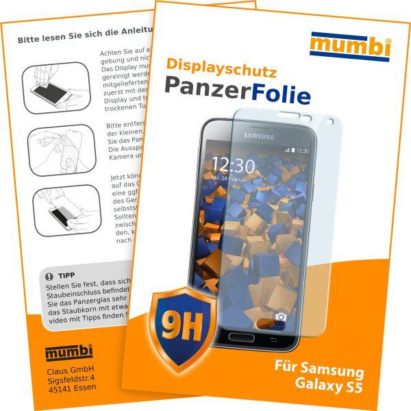 Panzerglasfolie Hartglas 9H für Samsung Galaxy S5 / S5 Neo