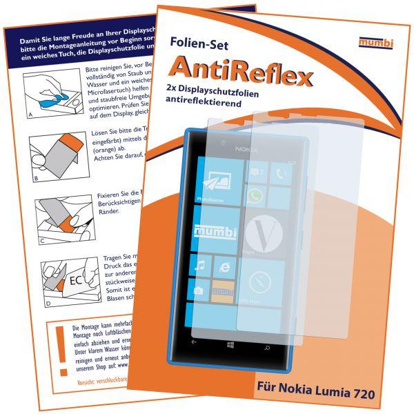 Displayschutzfolie 2 Stck. AntiReflex für Nokia Lumia 720