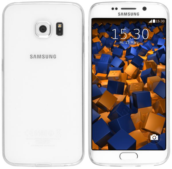 TPU Hülle Ultra Slim transparent für Samsung Galaxy S6 Edge