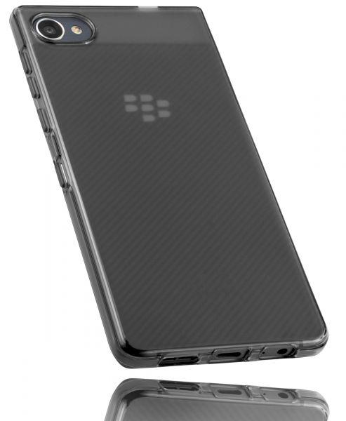 TPU Hülle schwarz transparent für Blackberry Motion