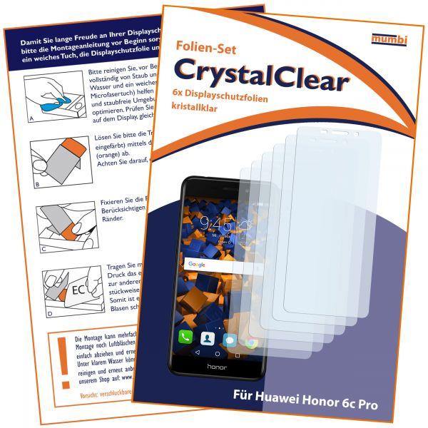 Displayschutzfolie 6 Stck. CrystalClear für Huawei Honor 6C Pro