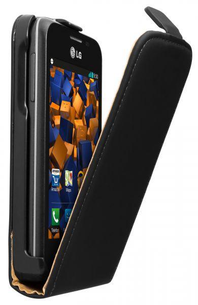 Flip Case Tasche schwarz für LG L40