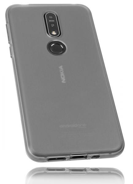 TPU Hülle schwarz transparent für Nokia 7.1