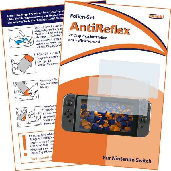 Displayschutzfolie 2 Stck. AntiReflex für Nintendo Switch