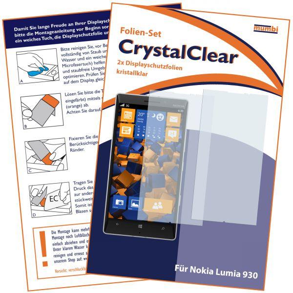 Displayschutzfolie 2 Stck. CrystalClear für Nokia Lumia 930