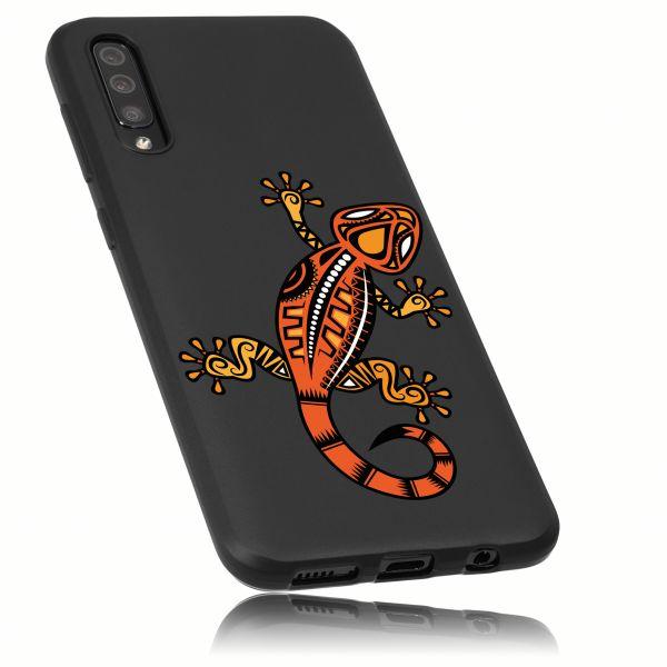 TPU Hülle schwarz Motiv Gecko für Samsung Galaxy A50