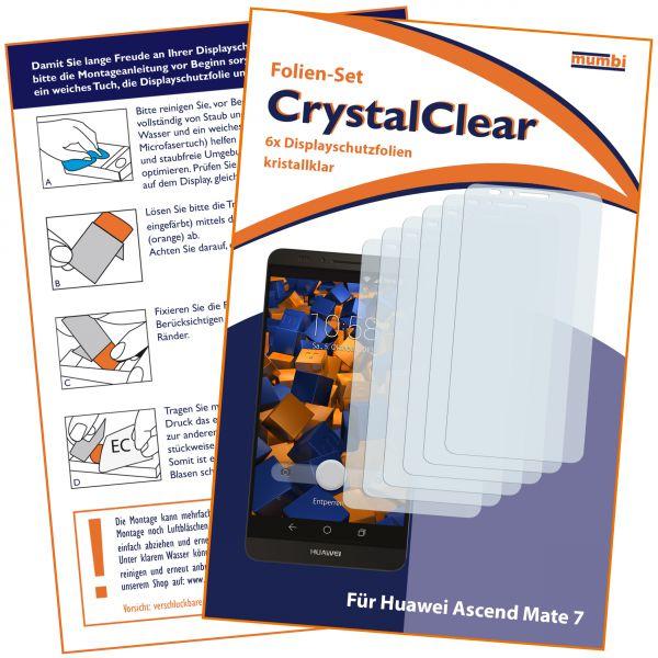 Displayschutzfolie 6 Stck. CrystalClear für Huawei Ascend Mate 7