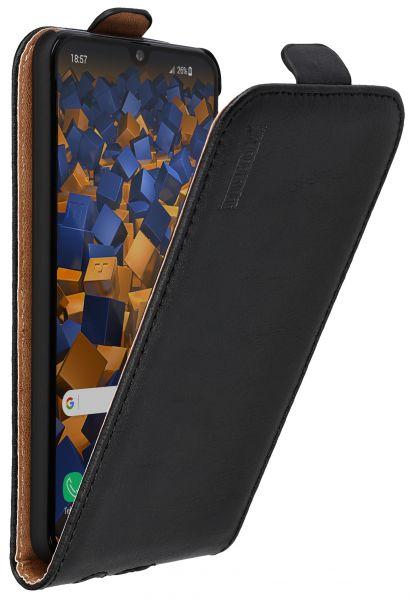 Flip Case Ledertasche schwarz für Samsung Galaxy A40
