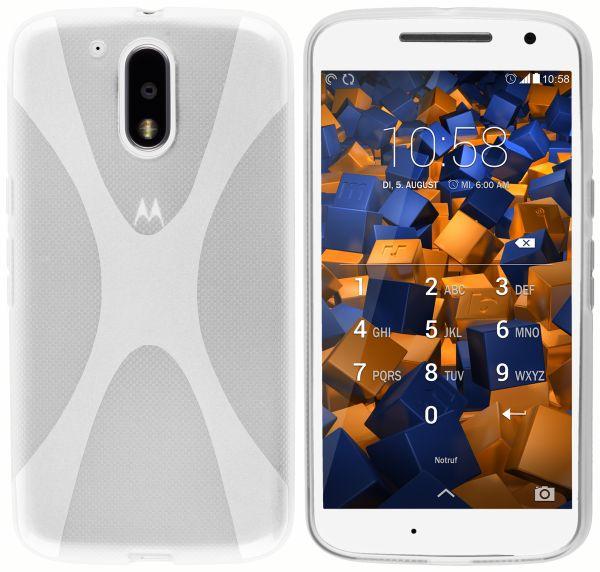 TPU Hülle X-Design weiß transparent für Motorola Moto G4 / G4 Plus