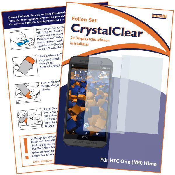Displayschutzfolie 2 Stck. CrystalClear für HTC One M9