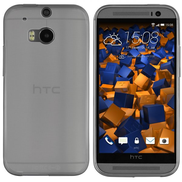 TPU Hülle Ultra Slim schwarz transparent für HTC One M8 / One M8s
