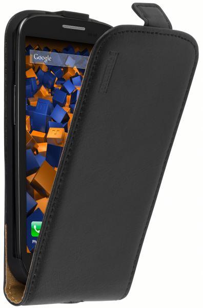 Flip Case Ledertasche schwarz für Samsung Galaxy S3 / S3 Neo