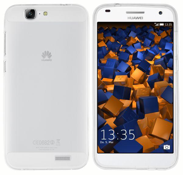 TPU Hülle transparent weiß für Huawei Ascend G7