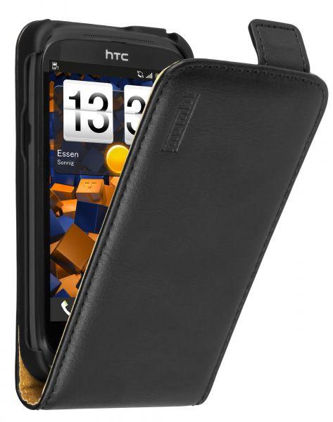 Flip Case Tasche schwarz für HTC Desire X