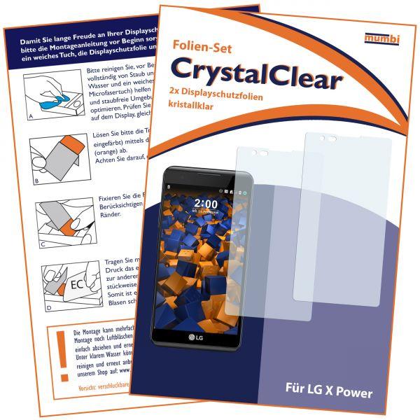Displayschutzfolie 2 Stck. CrystalClear für LG X Power