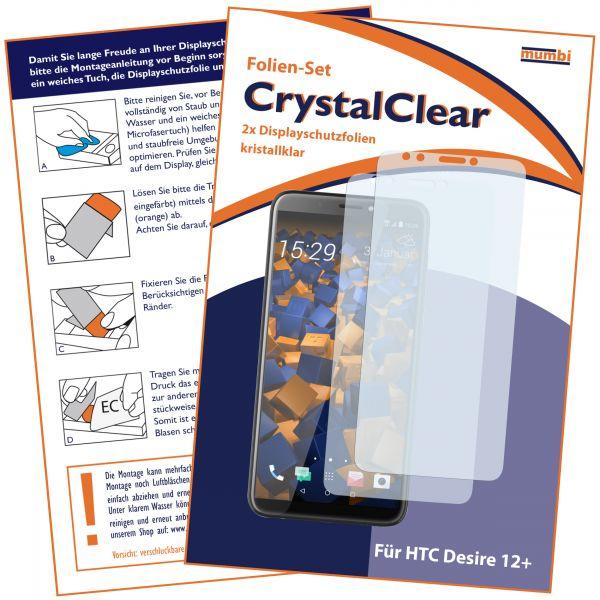 Displayschutzfolie 2 Stck. CrystalClear für HTC Desire 12 Plus