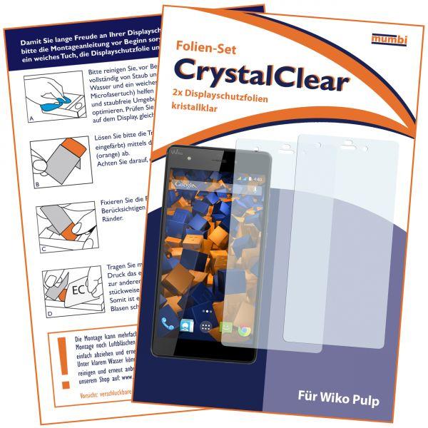 Displayschutzfolie 2 Stck. CrystalClear für Wiko Pulp