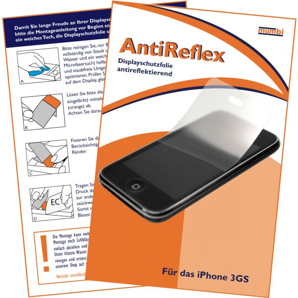 Displayschutzfolie AntiReflex für Apple iPhone 3 / 3G / 3GS