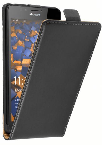 Flip Case Tasche schwarz für Microsoft Lumia 950